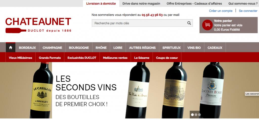 Le site de vente de vin en ligne Chateaunet