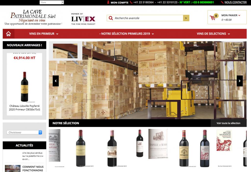 Site d'investissement dans le vin Lacavepatrimoniale.com