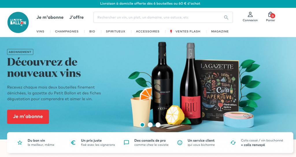 Le site de vente de vin en ligne Le Petit ballon