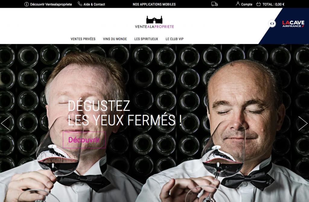 Site de vente privée de vin Ventealapropriete.com