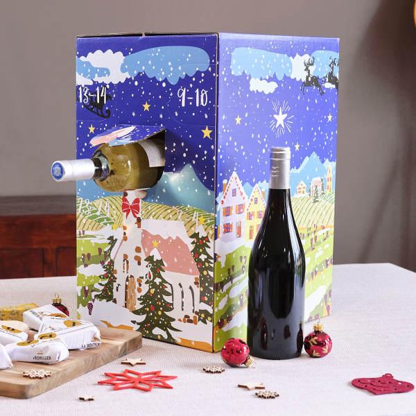 Calendrier de l'avent du vin 12 bouteilles